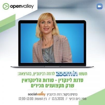 סדנת לינקדאין רוזה רבינוביץ'